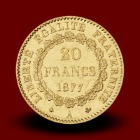6,46 g, Zlati kovanec / 20 Frfs Angel