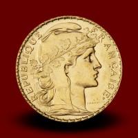 6,46 g, Gold coin / 20 Frfs Marianne