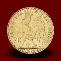 6,46 g, Zlati kovanec / 20 Frfs Marianne
