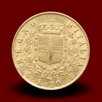 6,46 g, Zlati kovanec / 20 Lire Vittorio Emanuele II