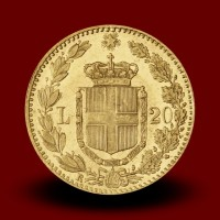 6,46 g, Gold coin / 20 Lire Umberto I