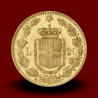 6,46 g, Zlati kovanec / 20 Lire Umberto I