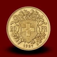 6,46 g, Zlati kovanec / 20 Sfrs švicarski Vreneli