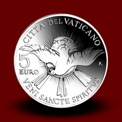 Srebrni kovanec 5 EUR Sede Vacante 2013** - NOVO