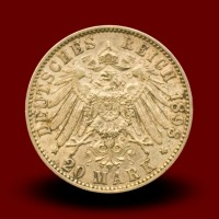 7,96 g, Zlati kovanec / 20 Mark