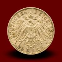 7,96 g, Gold coin / 20 Mark