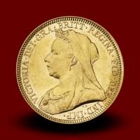 7,98 g, Zlati kovanec / 1 Pfd Victoria