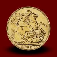 7,98 g, Zlati kovanec / 1 Pfd Edward VII