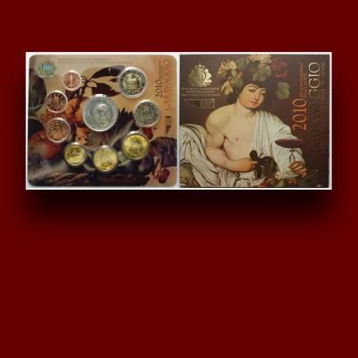 San Marino, zbirka evrokovancev s srebrnikom - Caravaggio (2010)