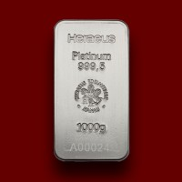 1000 g, Platinum Bar