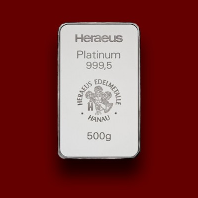 500 g, Platinum Bar