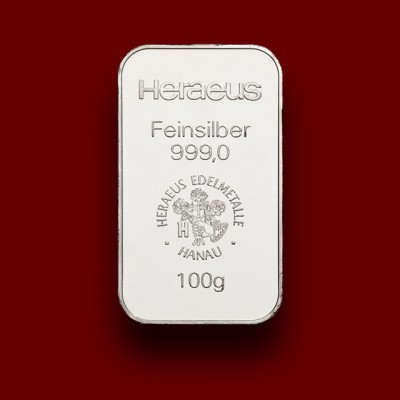 100 g, Silver Bar