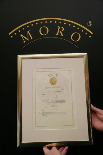 Zlati certifikat MORO